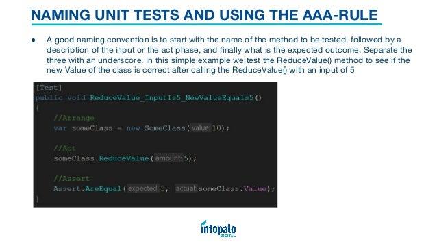 Unit testing in Unity