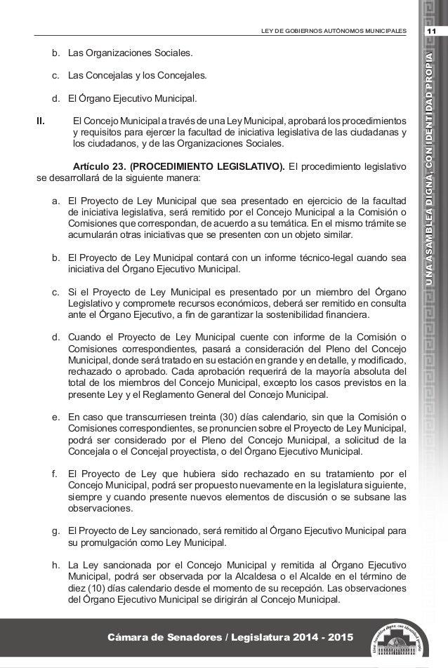 Ley de Gobiernos Autónomos Municipales