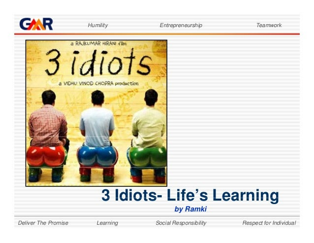 Humility Entrepreneurship Teamwork 3 Idiots- Life's Learning Learning Social Responsibility Respect for IndividualDeliver ...