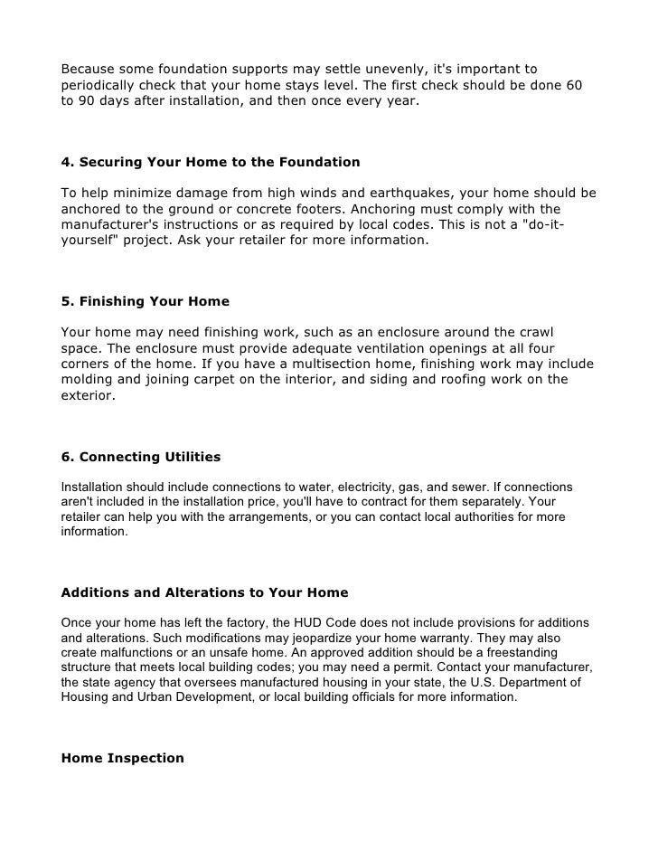 Project home buyers guide