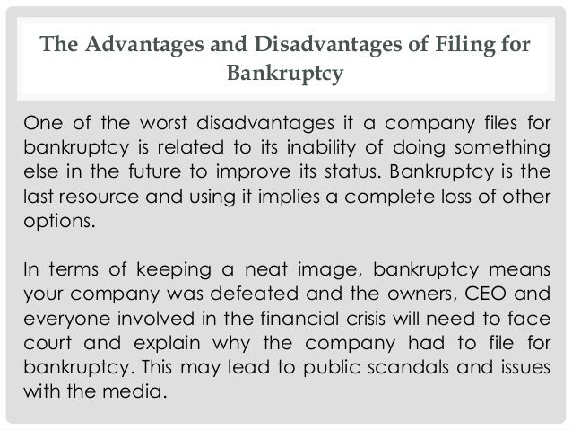 advantages and disadvantages of financial crisis