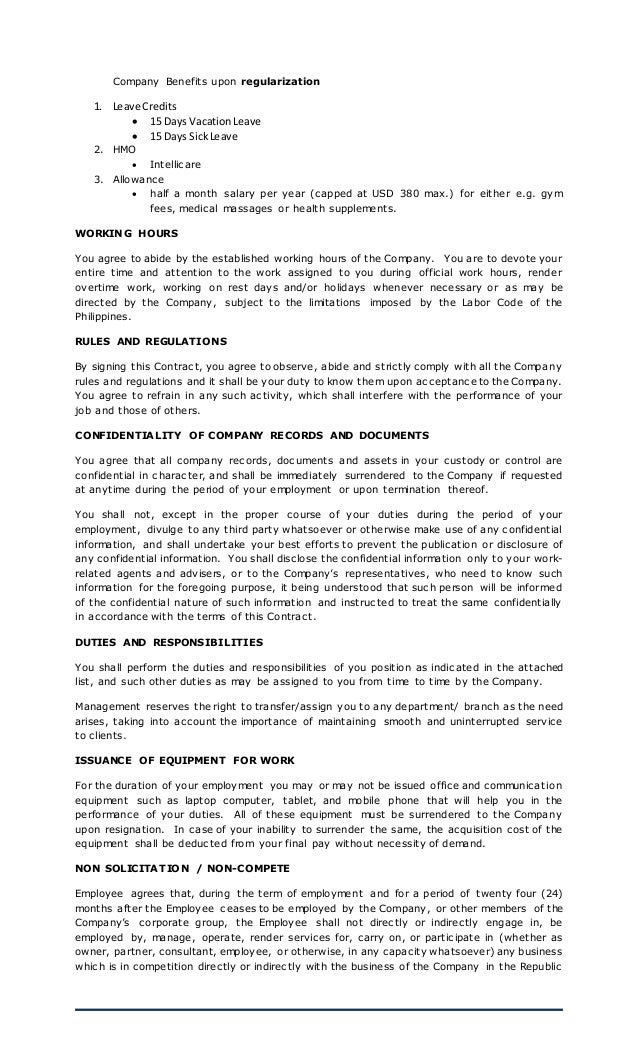 Employment Contract Updated