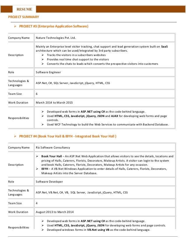 Summary For Saas Resume