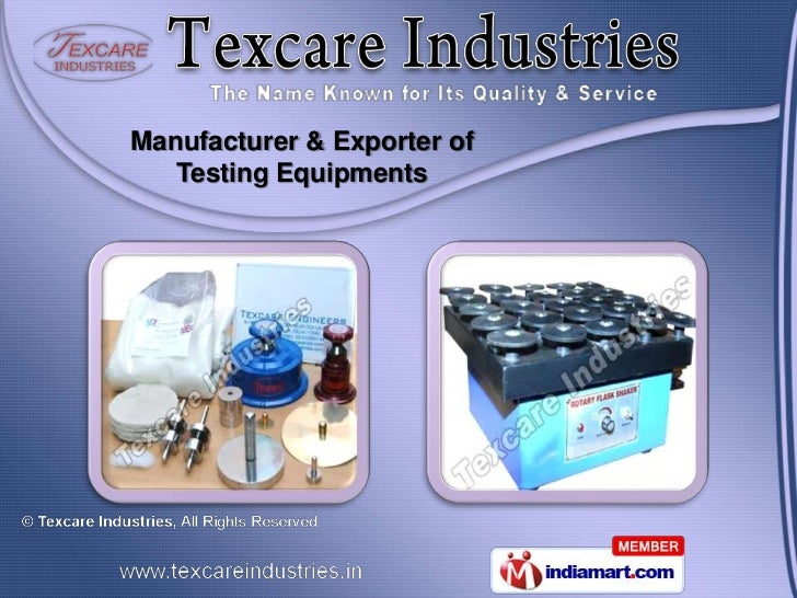 Manufacturer & Exporter of   Testing Equipments