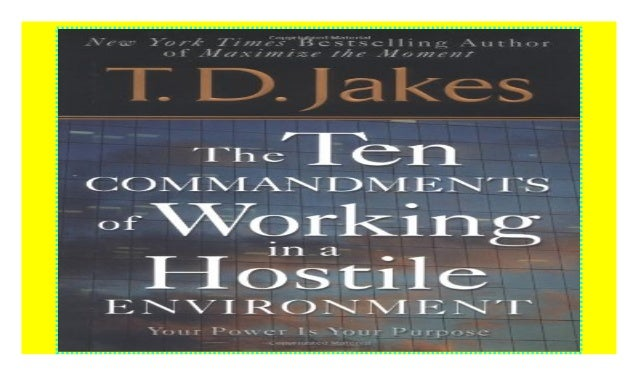 10 Commandments Of Working In A Hostile Environment Pdf