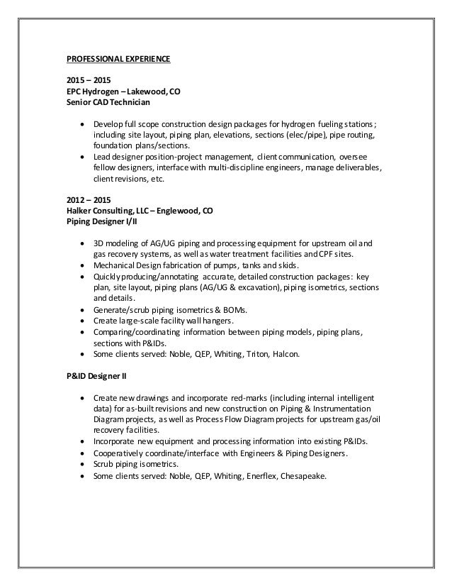 Order Of Sections In A Resume
