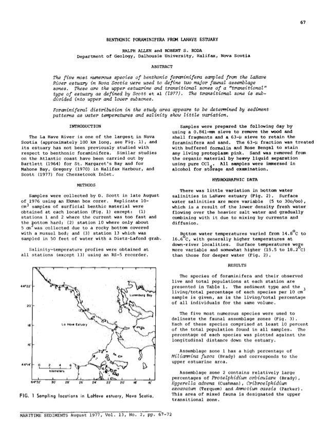 1931-3540-2-PB LaHave Estuary Foraminifera