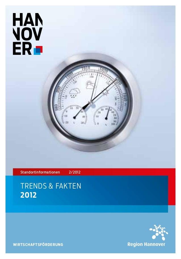 Standortinformationen   2/2012  TRENDS & FAKTEN  2012WIRTSCHAFTSFÖRDERUNG