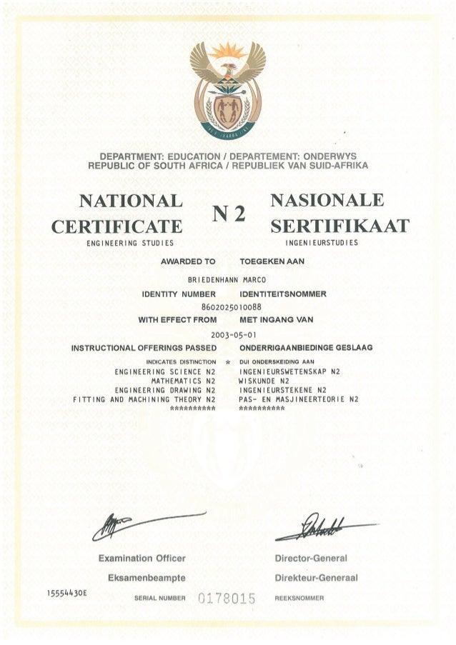 National Certificate N2