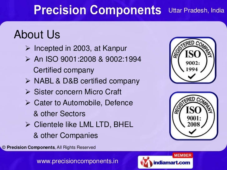 Uttar Pradesh, India     About Us           Incepted in 2003, at Kanpur           An ISO 9001:2008 & 9002:1994          ...