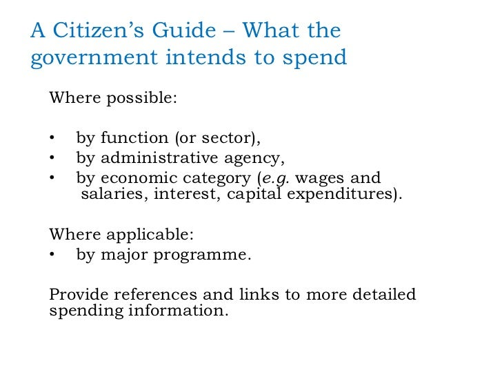 A citizen's guide to the federal budget : understanding ...