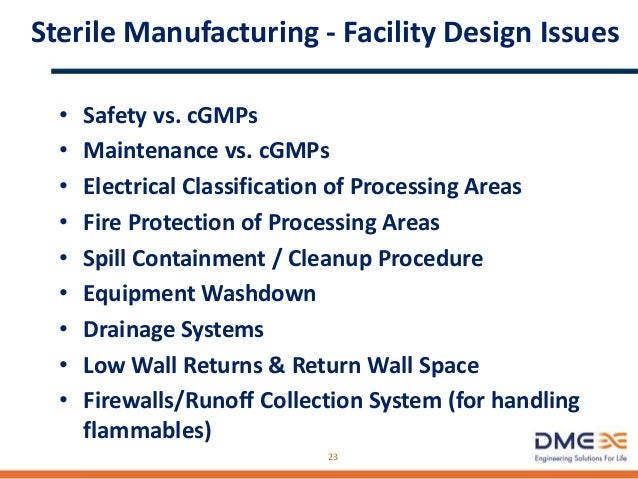 Sterile Manufacturing – Sterility Control • Steam-in-Place Systems • Autoclaves • Depyrogenation Ovens / Tunnels • Termina...