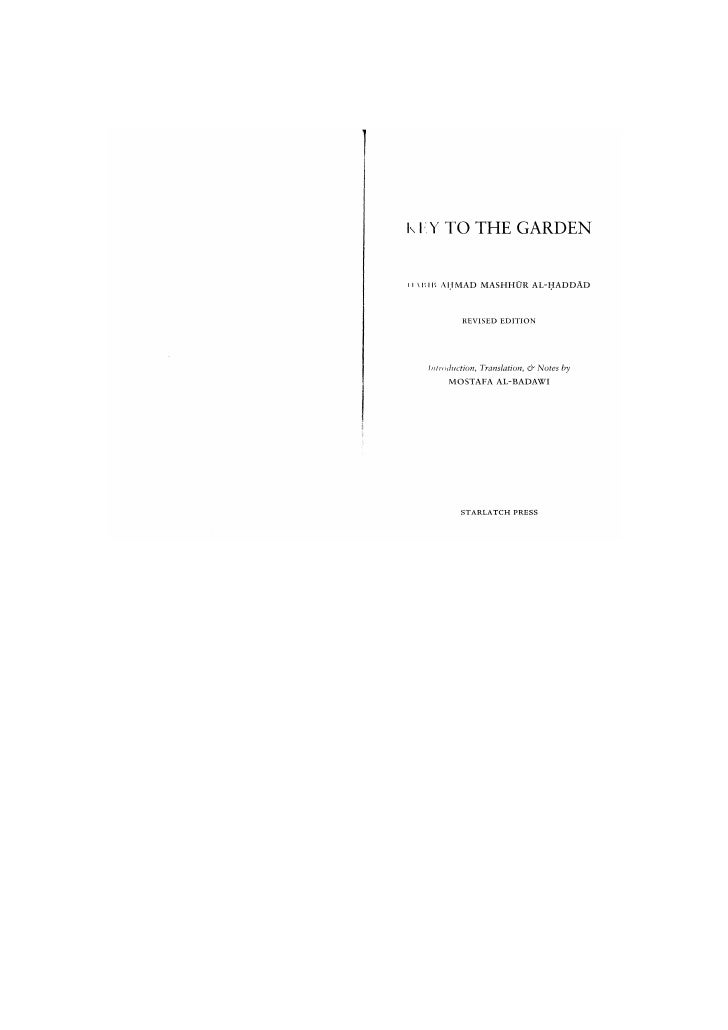 Key to the Garden -HabibAhmad Mashhur Al-Haddad
