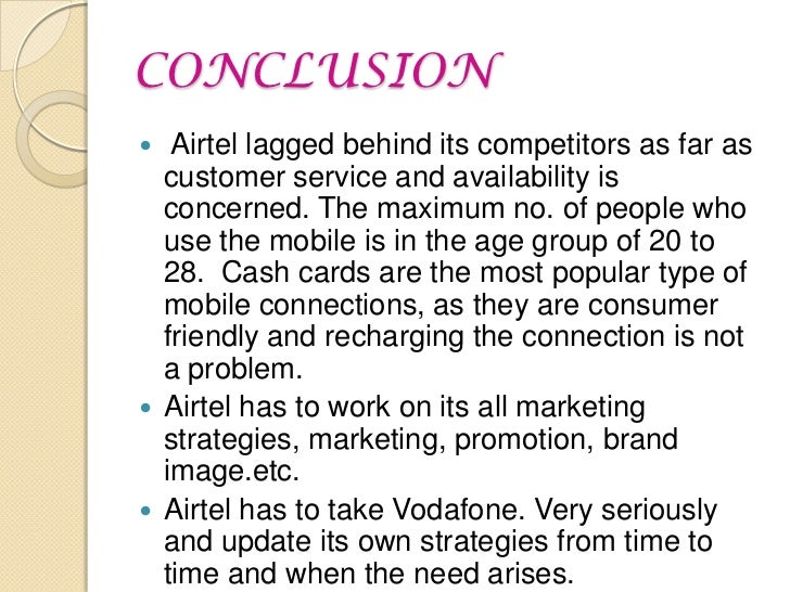 market segmentation of airtel Marketing policy: a customer segmentation individual businessman,  entrepreneur professionals and established organizations are the main  customers of airtel.