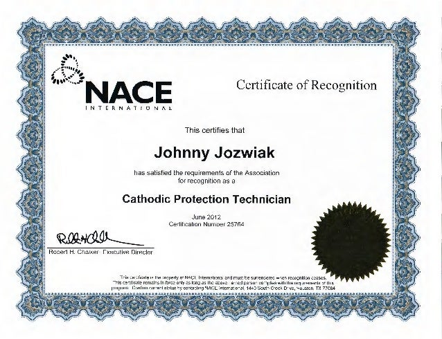 nace cathodic protection technician cp2 certificate cert slideshare upcoming