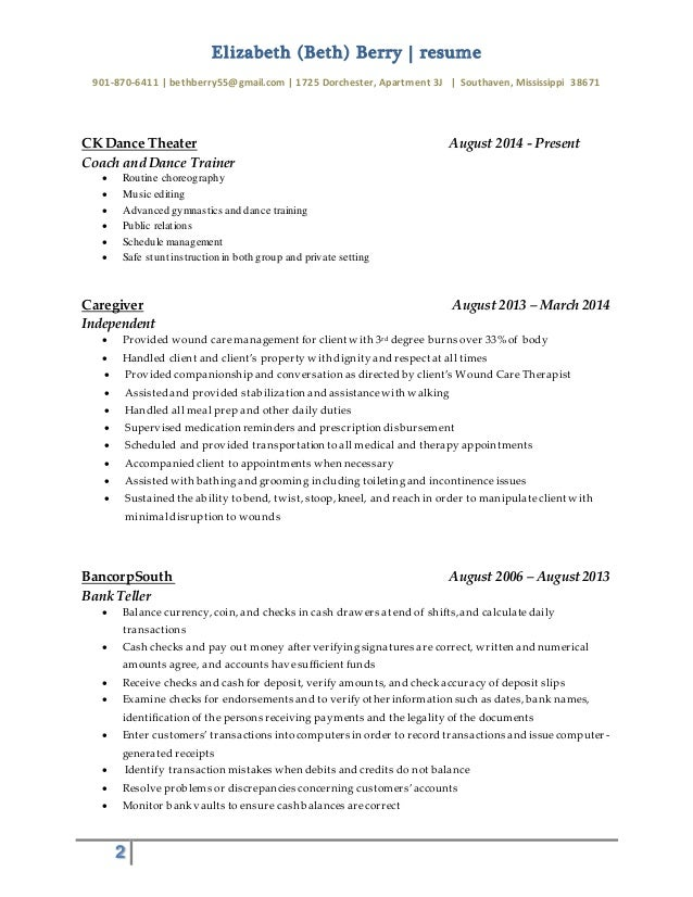 gymnastics coach resume