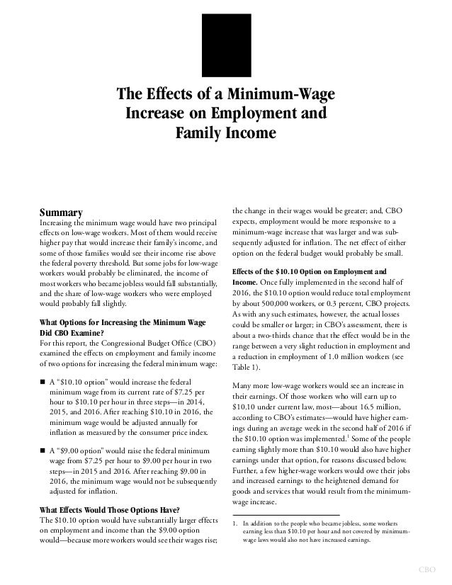 a report on minimum wages implementation The most direct impact minimum wage implementation has on the economy is unemployment among young workers and unskilled workers the two chief views for and against minimum wage implementation are .
