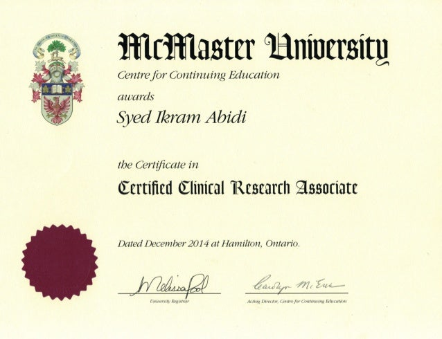Clinical Research Associate Certificate