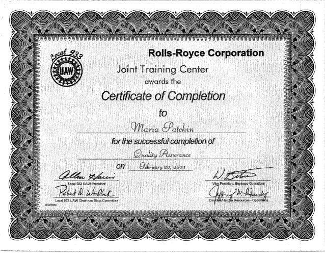 certificate qa slideshares proximos