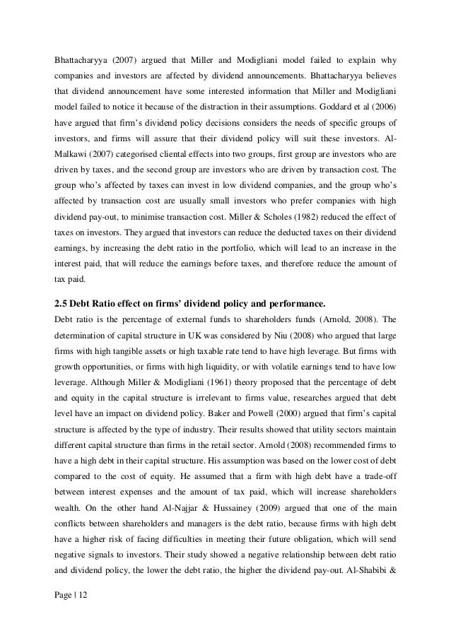dividend policy effects on firm value 1  analysis of financing decision, investment decision, dividend policy and value of the firm that listed on kompas 100 index gatot nazir ahmad.