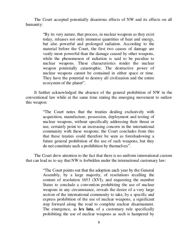 essay timur akhmetov nuclear weapon icj advisory opinion  71 8