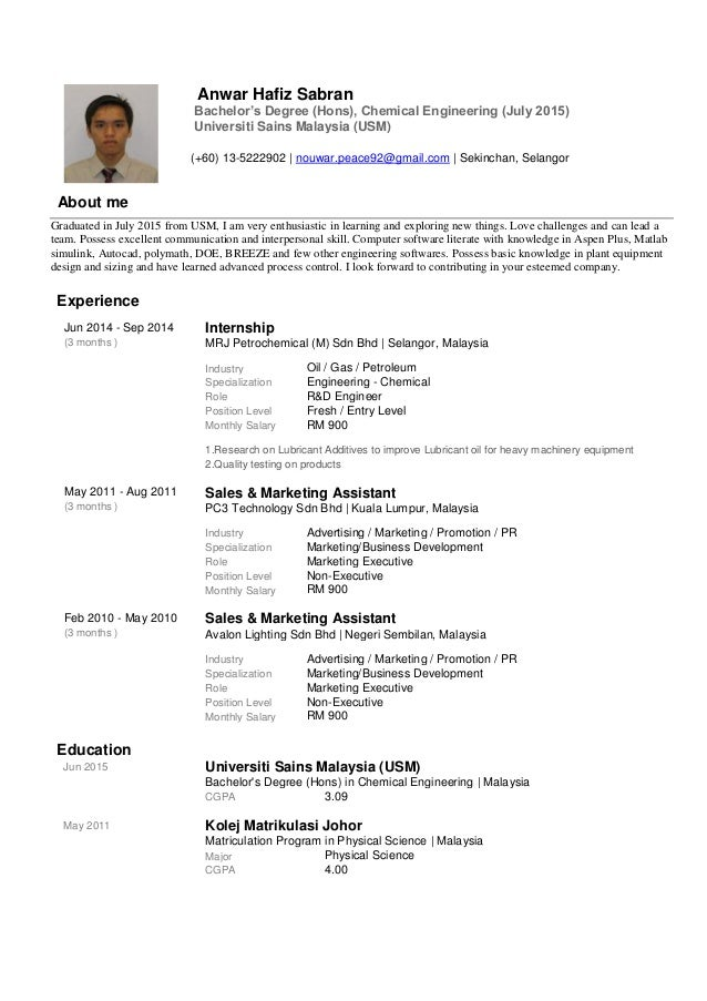 Breakupus Gorgeous Examples Of Resumes For Jobs In Malaysia     Job
