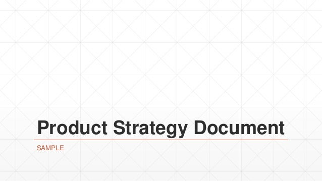 Product Strategy Document SAMPLE
