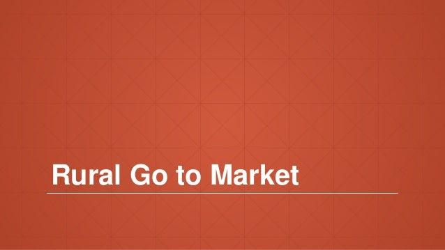 Rural Go to Market