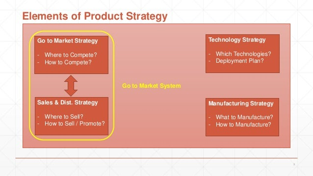 3 Go to Market Strategy - Where to Compete? - How to Compete? Sales & Dist. Strategy - Where to Sell? - How to Sell / Prom...