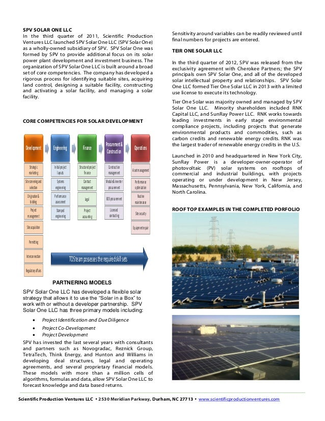 Spv Spv Solar One Company Overview 2015 11 01 G