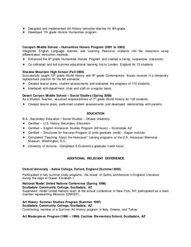 resume college graduate honors