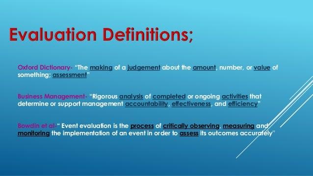 Evaluation Lesson  Event Evaluation Group
