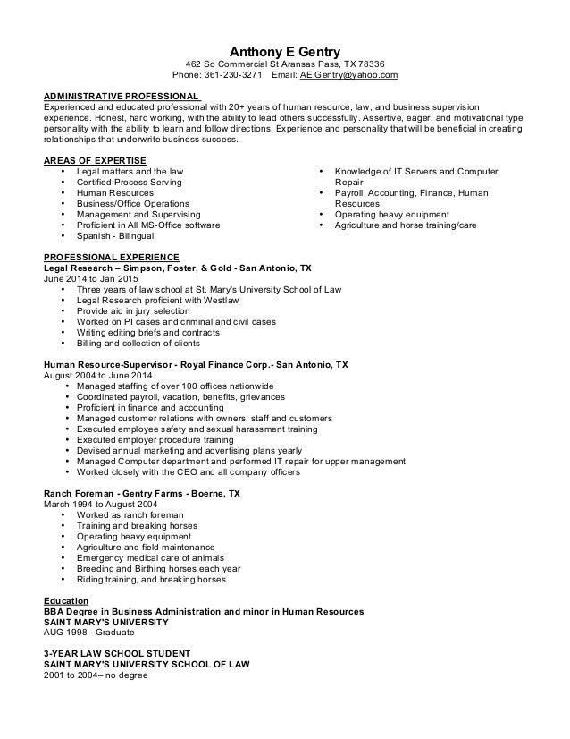 Anthony Gentry Resume 4-15