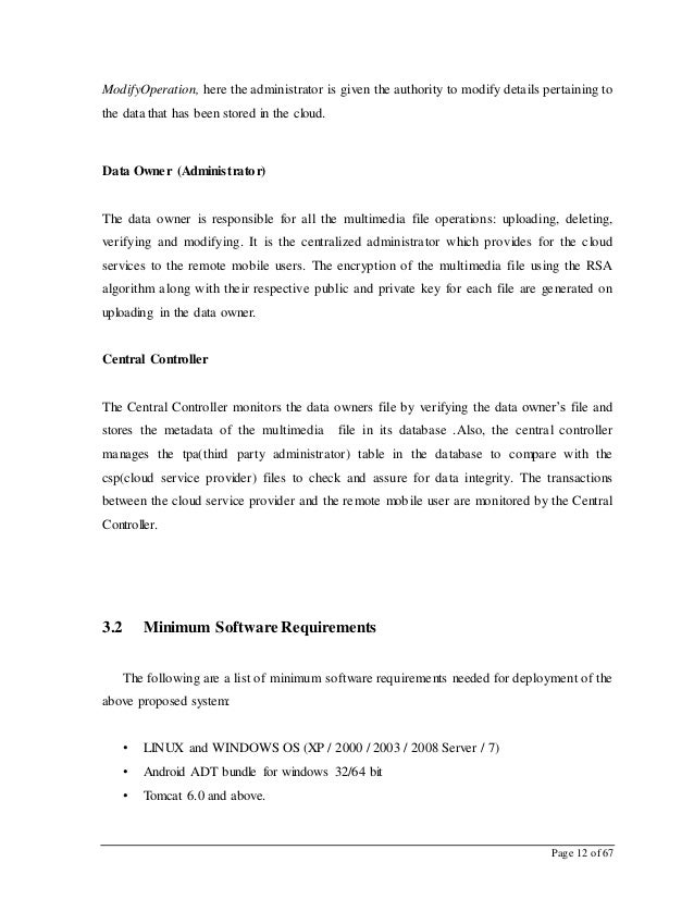 Page 12 of 67 ModifyOperation, here the administrator is given the authority to modify details pertaining to the data that...