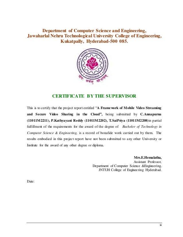 iii Department of Computer Science and Engineering, Jawaharlal Nehru Technological University College of Engineering, Kuka...