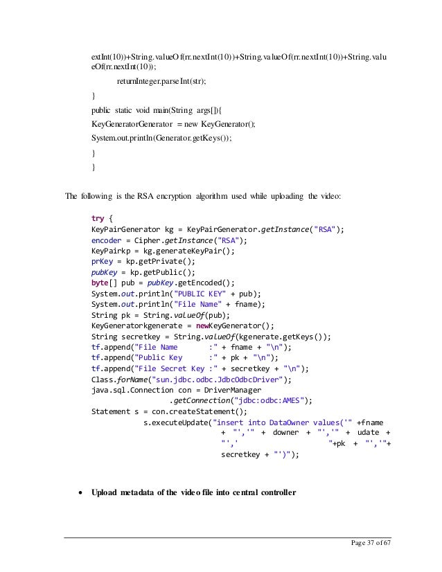 Page 37 of 67 extInt(10))+String.valueOf(rr.nextInt(10))+String.valueOf(rr.nextInt(10))+String.valu eOf(rr.nextInt(10)); r...