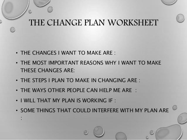 MOTIVATION ENHANCEMENT THERAPY – Change Plan Worksheet