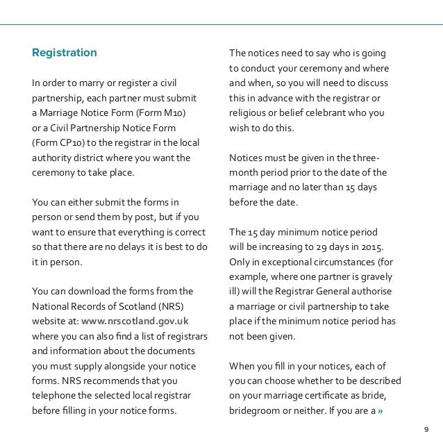 Marriage and civil partnership in scotland 11 solutioingenieria