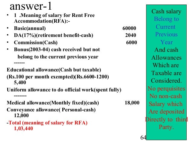 income from salary questions