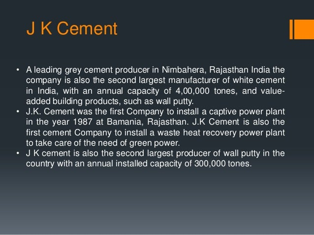 Jk Cement Webmail : Financial management at j k cement