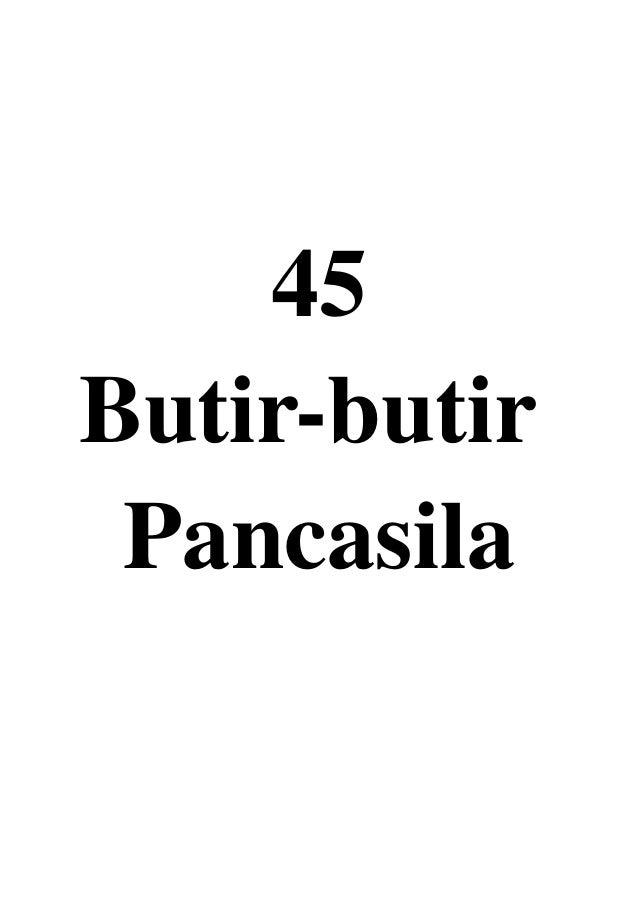 45 Butir-butir Pancasila