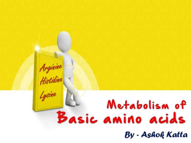 Metabolism of Basic Amino Acids (Arginine, Histidine, Lysine)