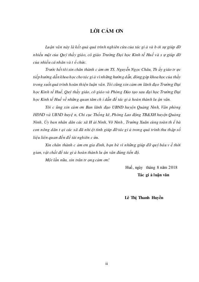 LỜI CẢM ƠN Luận văn này là kết quả quá trình nghiên cứu của tác gi ả và b ởi sự giúp đỡ nhiều mặt của Quý thầy giáo, cô gi...