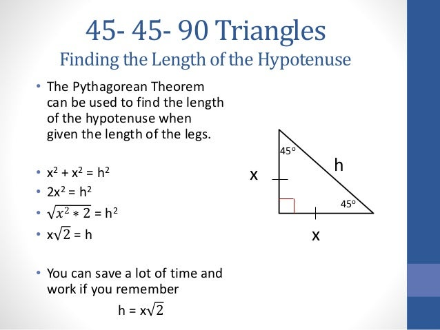 45 45-90 triangles