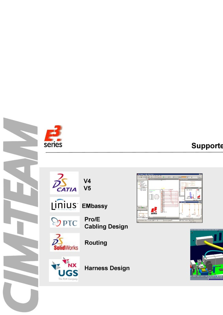 Supported Systems EMbassy Pro/E Cabling Design V4 V5 Routing Harness Design