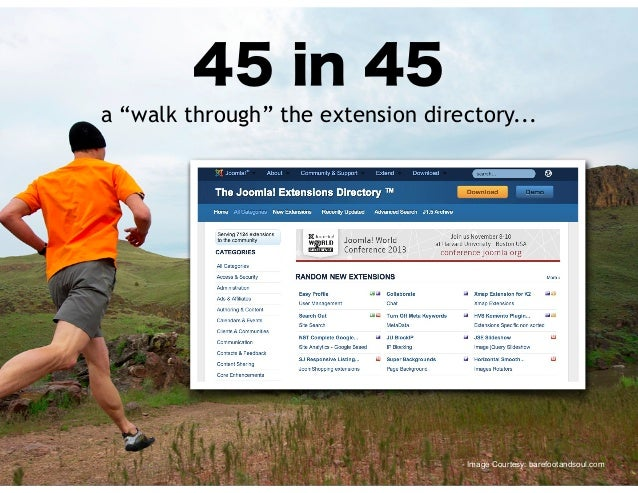 "45 in 45  a ""walk through"" the extension directory...  - Image Courtesy: barefootandsoul.com"