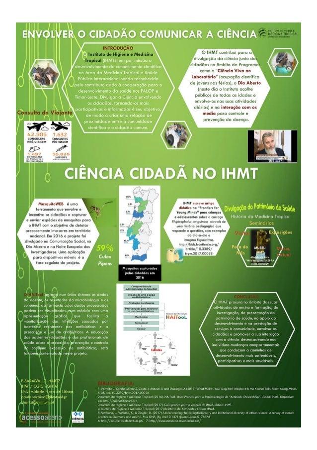 Envolver o cidadão comunicar a ciência: Ciência Cidadã no IHMT - CONFOA 2017