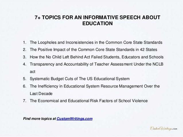 common topics for speech