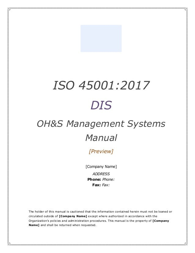 Iso 45001 Standard Pdf