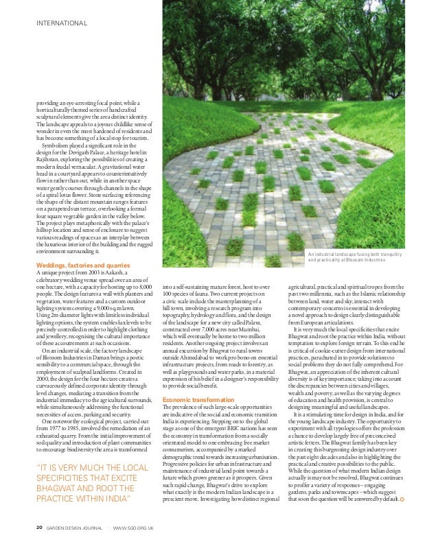 GARDEN DESIGN JOURNAL www.sgd.org.uk20 providing an eye-arresting focal point, while a horticulturally themed series of ha...